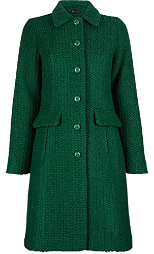 King Louie - Abrigo - Manga Larga - para mujer Peacock Green X-Large
