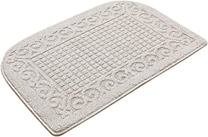 32X20 Inch Anti Fatigue Kitchen Rug Mats are Made of 100% Polypropylene Half Round Rug Cushion Specialized in Anti Slippery and Machine Washable (32x20in Beige 1pc)