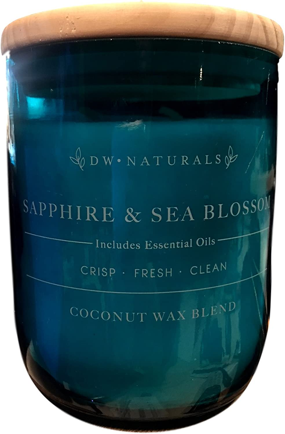 DW Home Naturals Sapphire & Sea Blossom Scented Large 2 Wick Coconut Wax Blend Candle