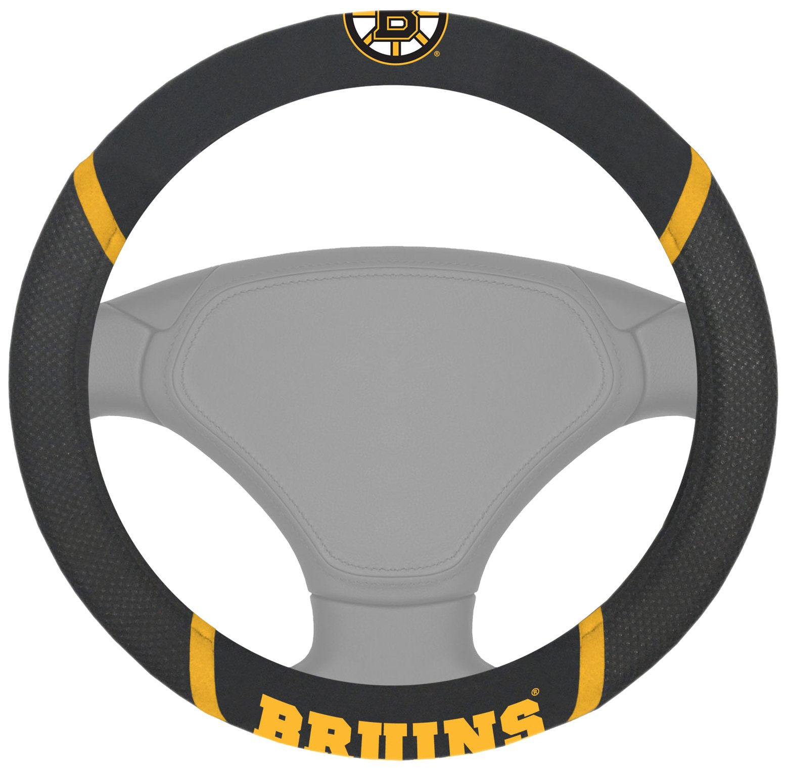 FANMATS  14842  NHL Boston Bruins Polyester Steering Wheel Cover by Fanmats