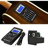 Tbest Guitar Preamp,Guitar Preamp Equalizer Digital Tuner,F-5T 5Band Equalizer Pickup,Digital Tuner Pickup Acoustic Electric