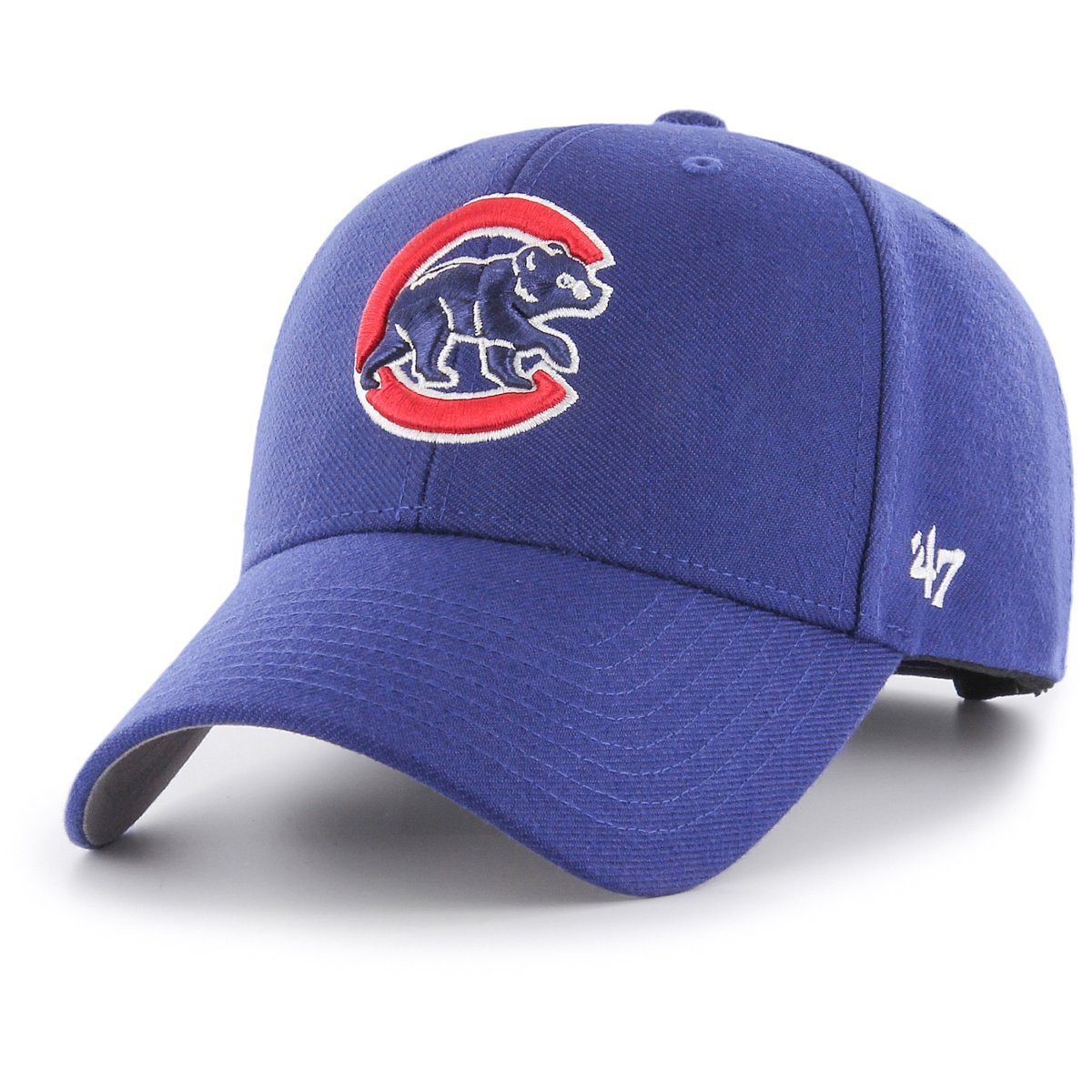 Amazon.com   47 Forty Seven Brand Chicago Cubs Curved Visor Velcroback Cap  MLB Limited Edition  Clothing 98ce97eb9b0
