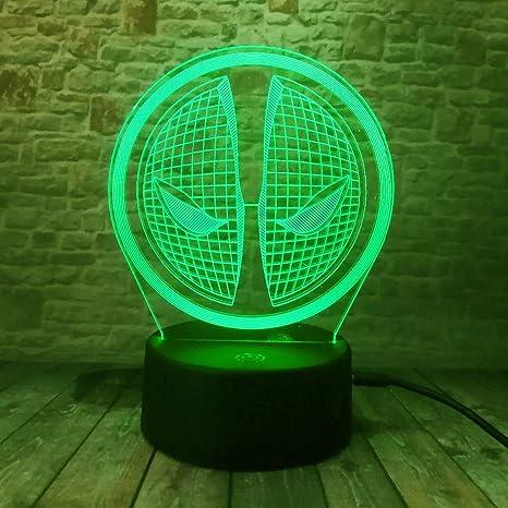 Lámparas de 3D LED cerca de luz, 7 colores , Arte táctil/control ...