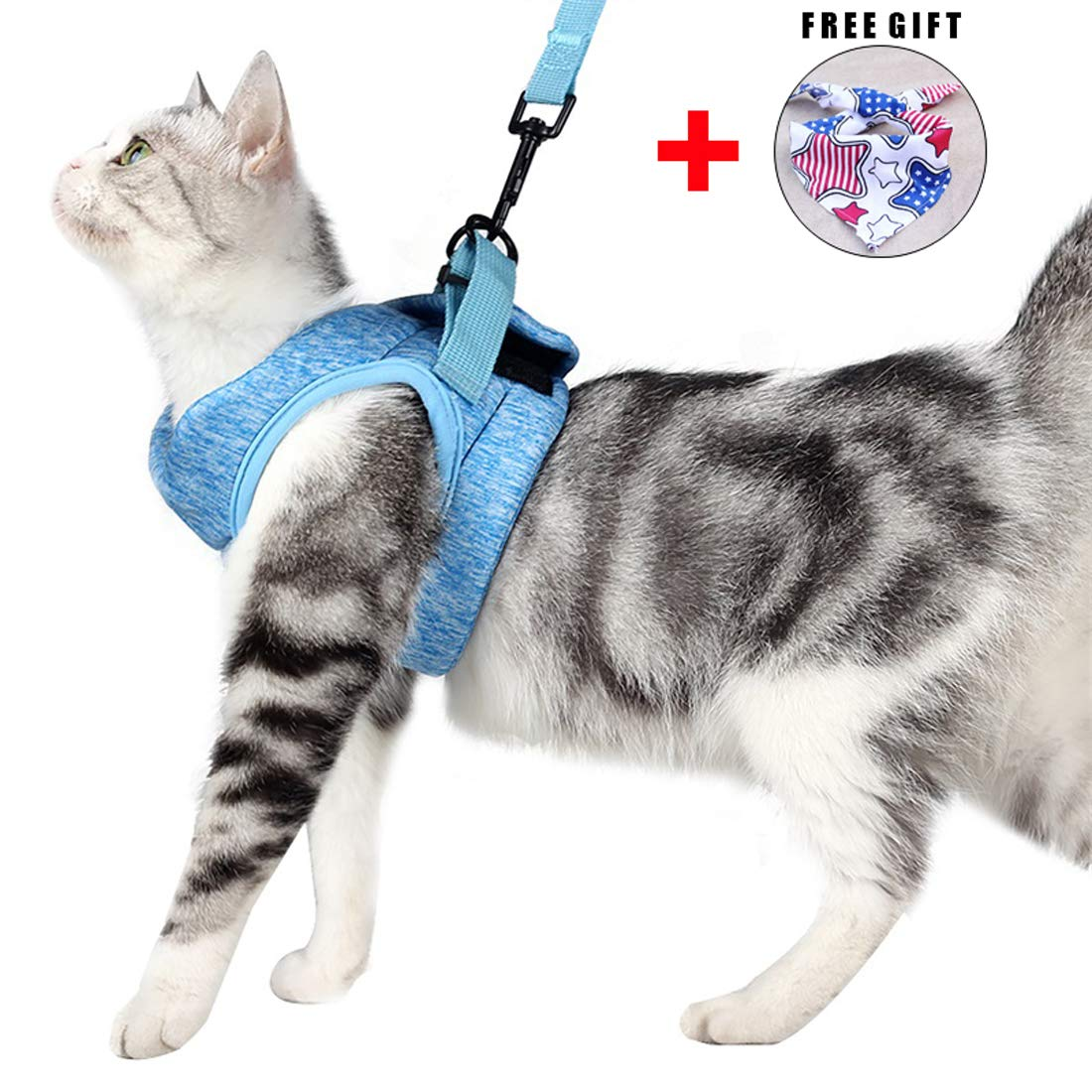 Wooruy Cat Harness and Leash Set for Walking 360° wrap-Around Small Cat and Dog Harness Cushioning and Anti-Escape…