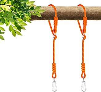 NOSTAFY 2PC Heavy Duty Length Adjustable Rope Express Setup Hanging Tree Straps (250 Lbs Limited/Each) for Outdoor Swings Hammock Playground Set
