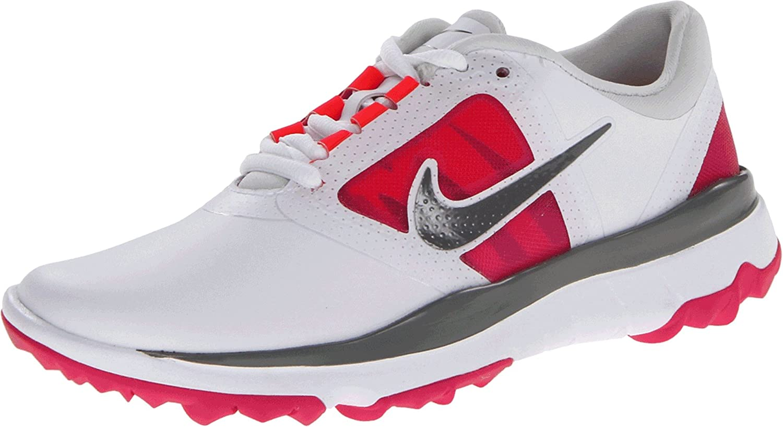 Nike Golf women's FI Impact Golf Shoe,White/Grey/Vivid Pink,7 M US