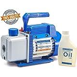NewPosition 4.0 CFM Single-Stage 5 Pa Rotary Vane Economy Vacuum Pump for HVAC, Air Conditioner Refrigerant,Food…