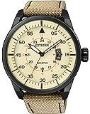 Citizen - AW1365-19P - Montre Homme - Quartz Analogique - Cadran Beige - Bracelet Cuir Beige