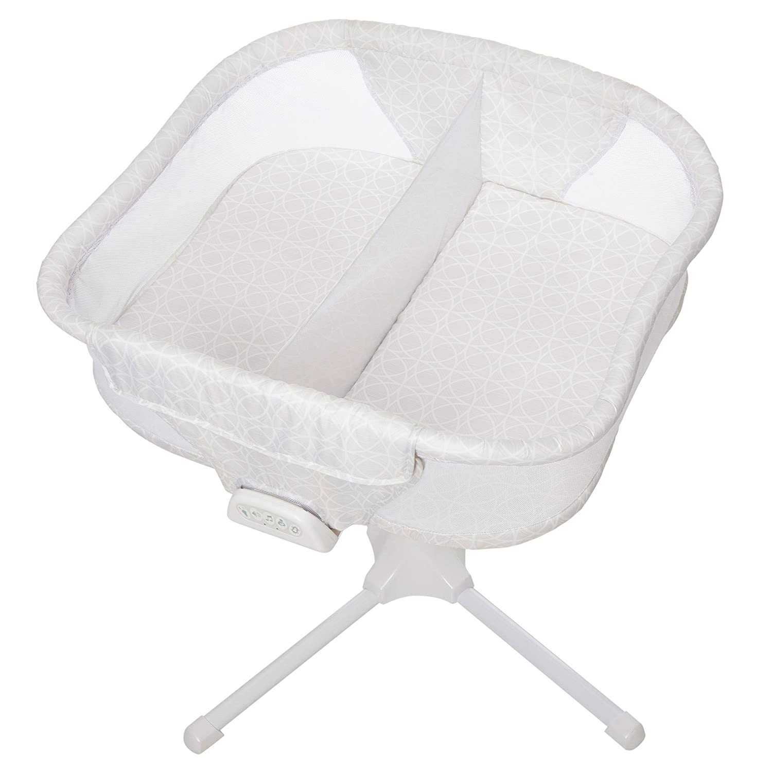 HALO Bassinest Twin Sleeper Double Bassinet – Premiere Series, Sand Circle