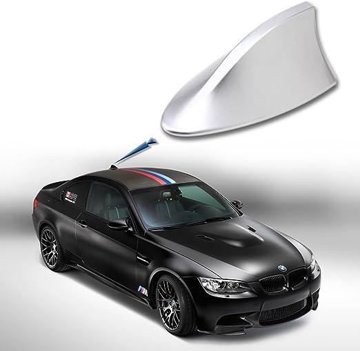 Antena tiburon color plata. Universal para coche. Antena AM ...