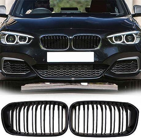 Semoic Noir Brillant Grille De Grille De Rein Avant pour BMW F20 F21 1 S/érie 2011-2014