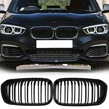 Ben-gi 1 par Frontal Parrillas para BMW Serie 1 F20 2015-2017 Negro Mate Delantero Doble Listones de riñón Parrilla del Coche del Estilo de Malla Parrillas: ...