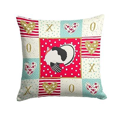 Caroline's Treasures CK5415PW1414 Royal Palm Turkey Love Fabric Decorative Pillow, 14Hx14W, Multicolor : Garden & Outdoor
