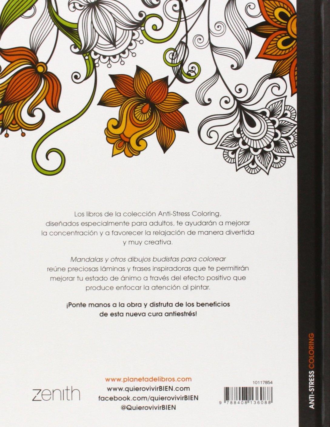 Mandalas y otros dibujos budistas para colorear Anti-stress coloring ...
