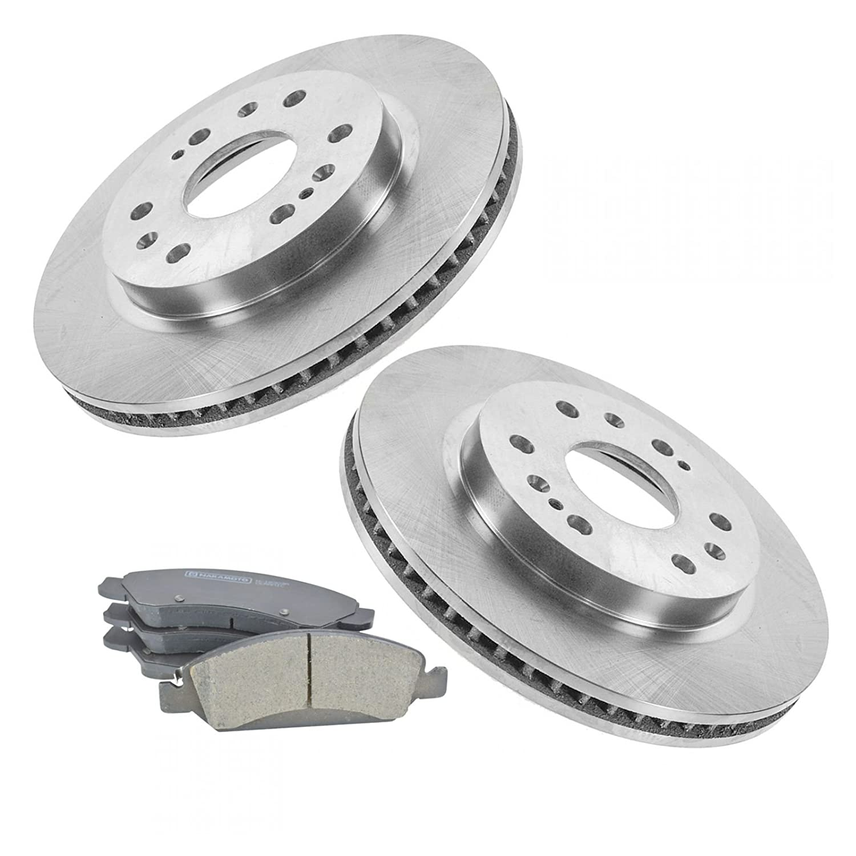 Nakamoto Front Premium Posi Metallic Brake Pad /& Rotor Kit for GM Truck SUV