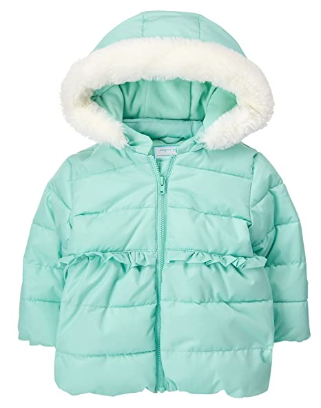 5738caf31 Amazon.com  Gymboree Girls  Toddler Jacket with Faux Fur Hood Trim ...
