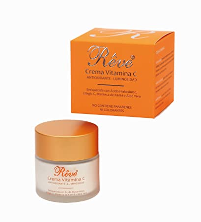 Crema Facial Antioxidante con Vitamina C + Ellagic C + Ácido Hialurónico + Aloe Vera +