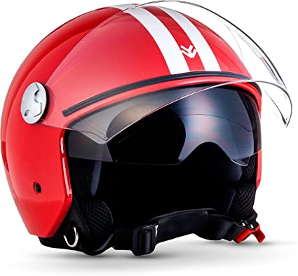 Amazon.es: ARMOR Helmets AV-63 Casco Motocicleta, ECE certificado, XL (61-62cm), Fun Rojo