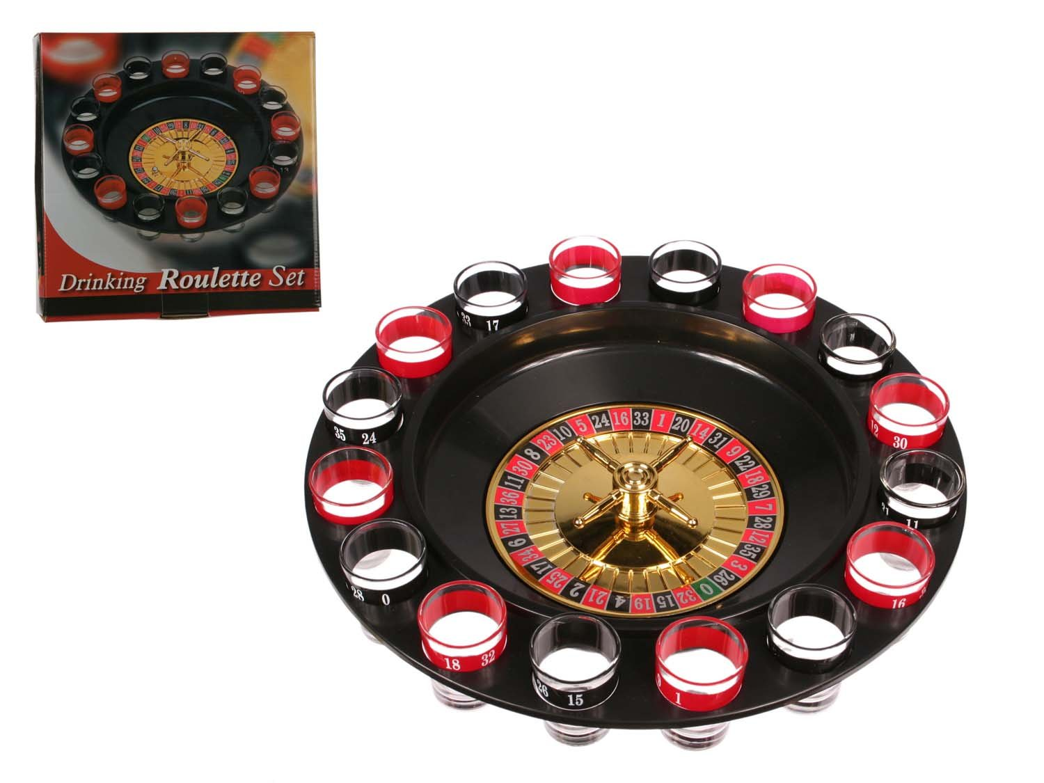 Novelty Roulette Drinking Game with 12 Glasses & 2 Balls - Gents, Mens, Mans, His, Lady, Ladies, Women, Her Great Value For Money, Top, Best, Most Sold Novelty, Secret, Rude Sexy, Secret, Sexy, Santa Present, Gift Idea Great Gifts