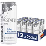 Red Bull Energy Drink Kokos-Blaubeere 12 x 250 ml Dosen Getränke Summer Edition 12er Palette