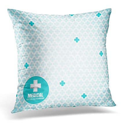 Amazon Sdamase Throw Pillow Cover White Cross Blue Medical Delectable Medical Pillow Covers