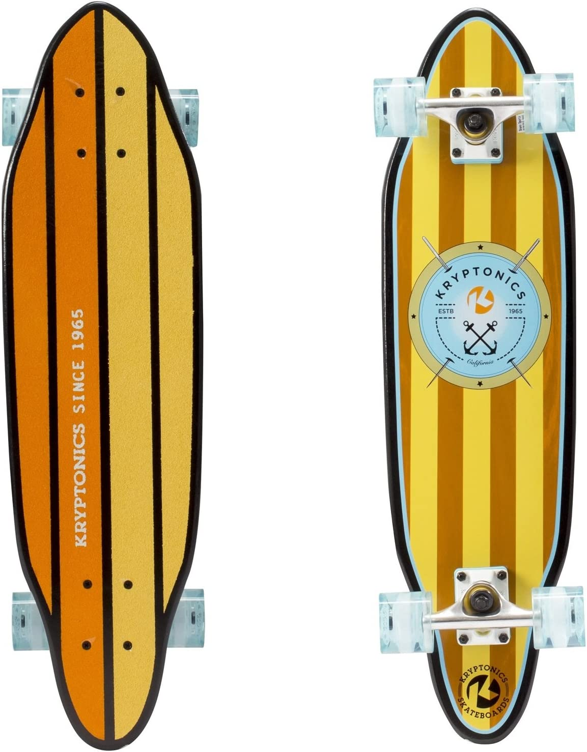 /Verankert Graphic komplett/ Kryptonics 76,2/cm Cutaway Skateboard Cruiser