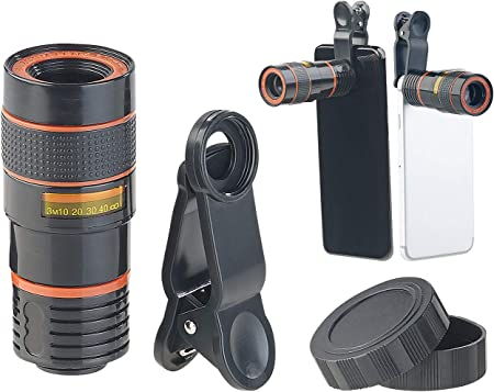 Somikon Handy Linsen Smartphone Vorsatz Tele Objektiv Elektronik