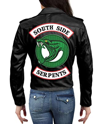 01507791cb97 Riverdale Southside Serpents Madelaine Petsch Jacket in Black (XXX-Large)