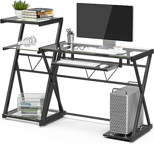 Mecor Glass Computer Desk