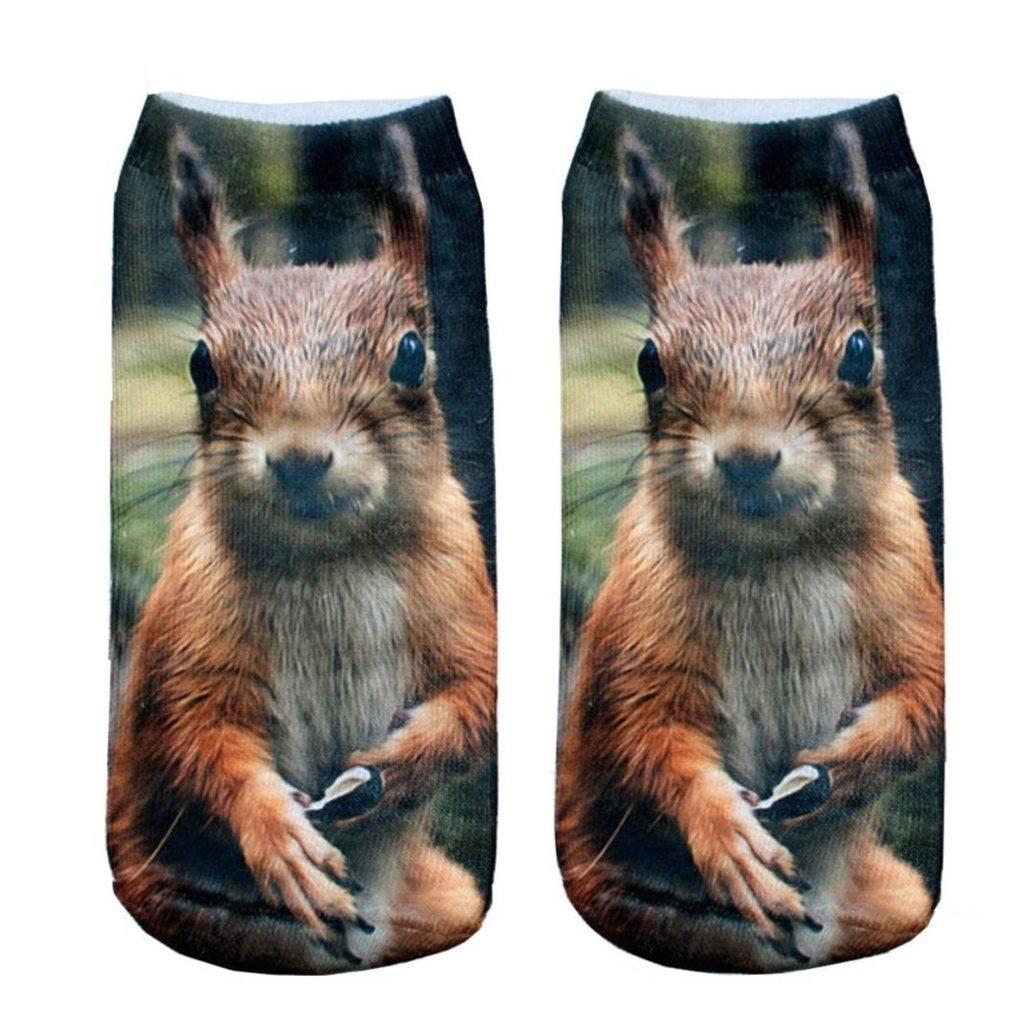 CHIC Funny Sock squirrel Funny Cartoon Animal For Woman Man Boy Girl Free Size