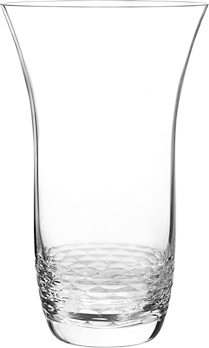 Amazon Com Qualia Glass Reef Vase 11 Inch Clear Home Kitchen