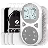 AUVON 32 Modes TENS Unit Muscle Stimulator (TENS+EMS+Massage), TENS Machine with 11 TENS Modes for Pain Relief, 11 EMS Modes for Muscle Management, 10 Massage Modes for Relaxation, and Electrode Pads