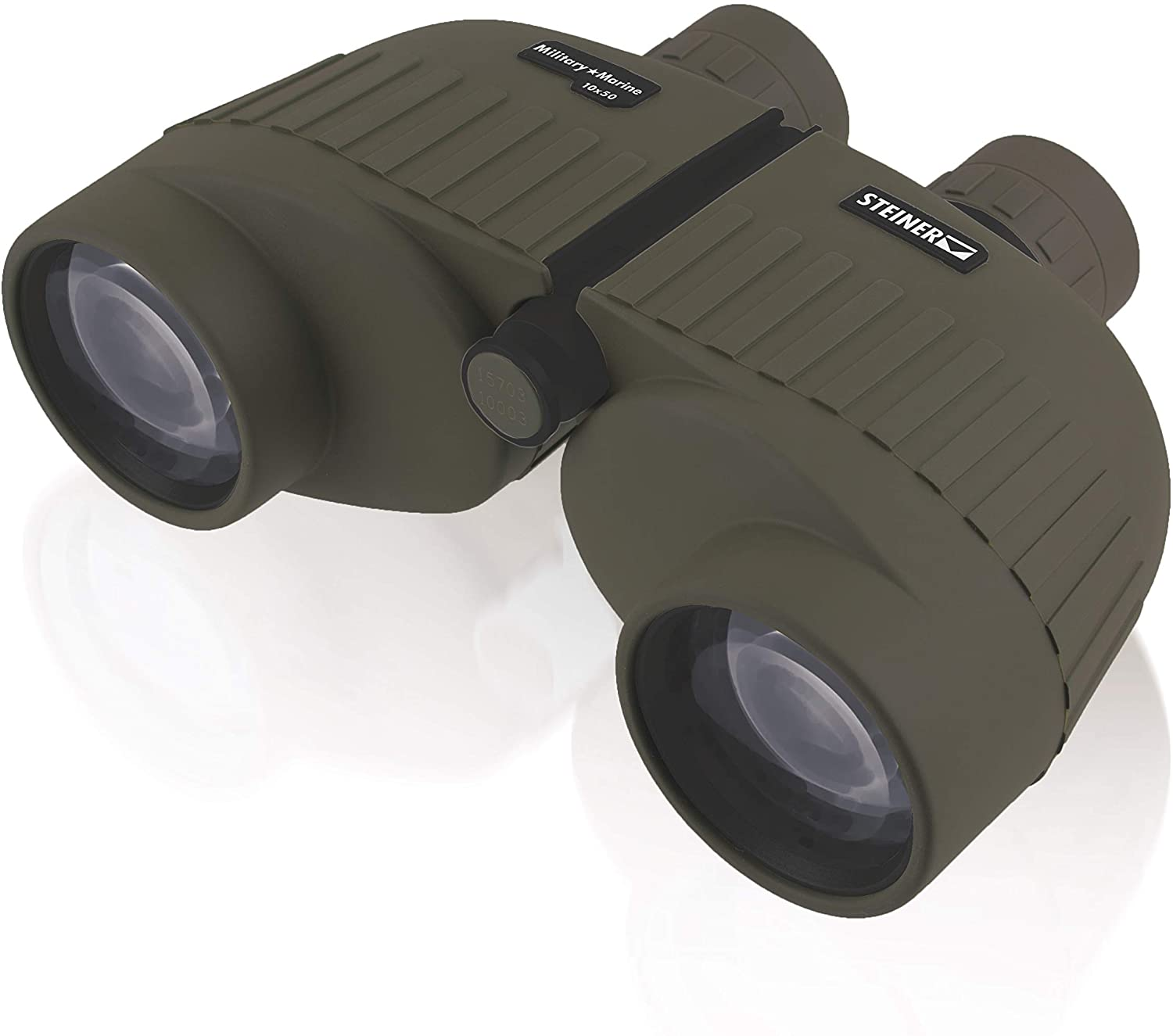 Steiner Military-Marine Series Binoculars, Lightweight Tactical Precision Optics for Any Situation, Waterproof, Green