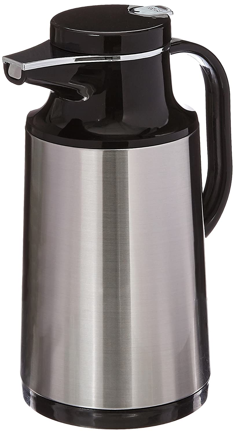 Service Ideas HPS101 Glass-Lined Carafe, Vacuum Insulated, 1 Liter (34 oz)