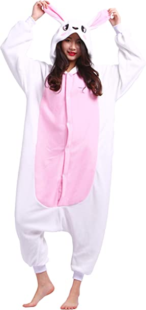 Unisex Animal Pijama Ropa de Dormir Cosplay Kigurumi Onesie Conejo ...