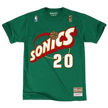 Gary Payton Seattle Supersonics Mitchell & Ness NBA Throwback Men s Camiseta Camisa, ...