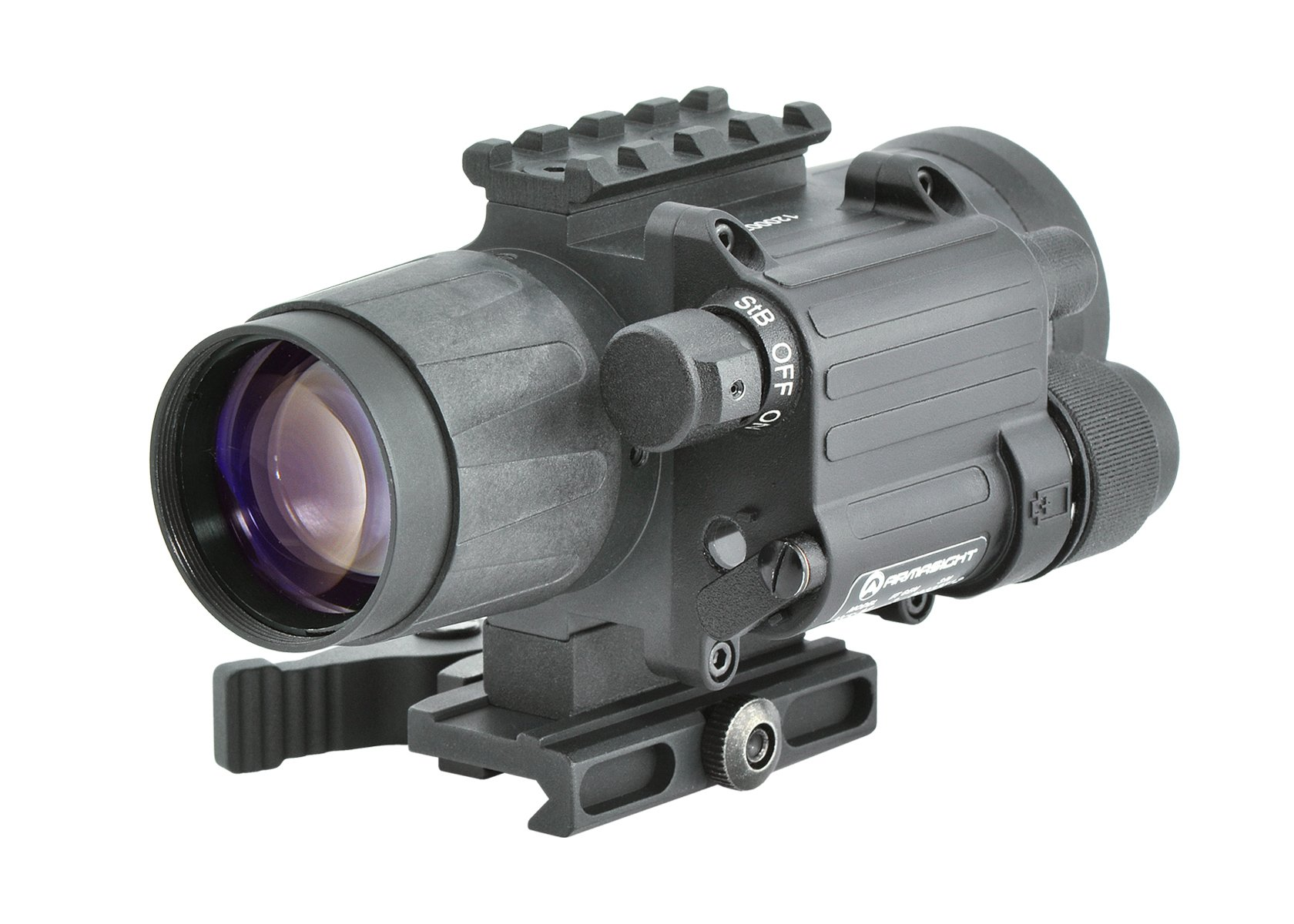 Armasight CO-Mini 3P MG - Night Vision Mini Clip-On System Gen 3; High-Performance Thin-Filmed Auto-Gated IIT with Manual Gain