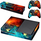 SKINOWN Golden Skin Gold Sticker Vinly Decal Cover for Xbox One(XB1) Console and 2 Controller with 1 Kinect Skins