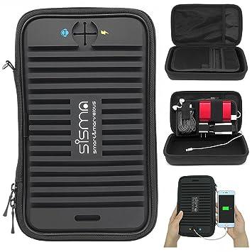 642e8b526a83 sisma Bolsa Organizador electrónica para Cables Cargador Memoria USB  Auricular: Amazon.es: Electrónica