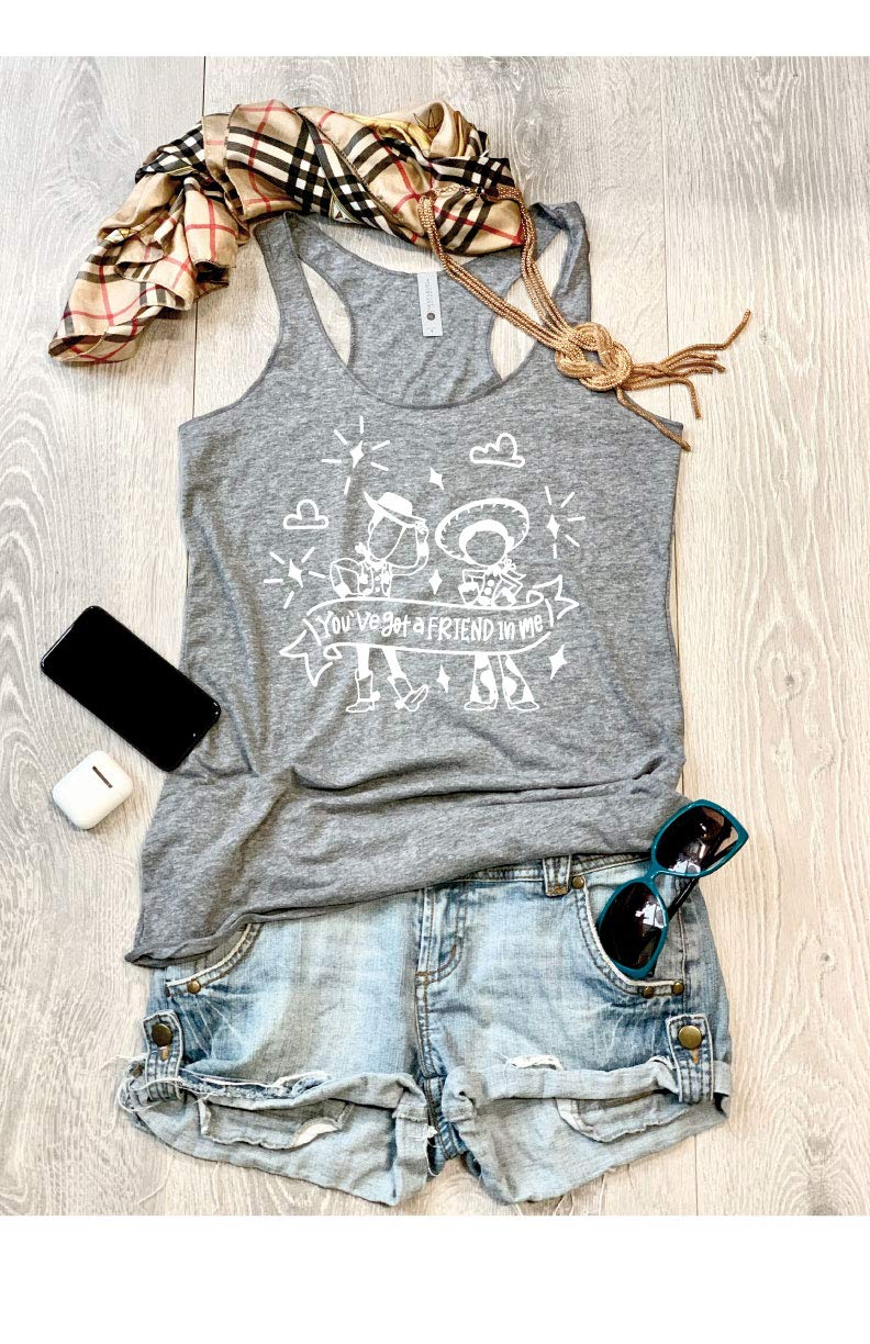 Partner//True To Womens Fit//Hand Made//Made To Order//Womens Eco Tri-Blend Tanks//Women Clothing//Super Soft Tank//Free Shipping//Screen Printed With Eco Ink/… Youve Got A Friend In Me