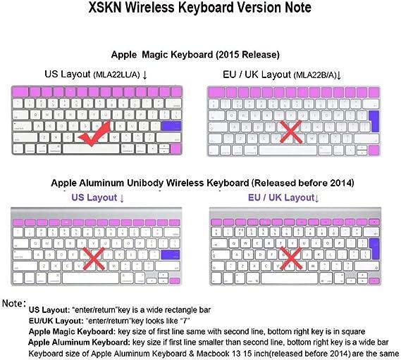 XSKN Magic Tastatur Logic Pro X Shortcut Keyboard Cover XSKN strapazierf/ähiger Logic Hotkeys Silikon Tastatur Haut f/ür Apple Magic Tastatur mla22ll//A US Version