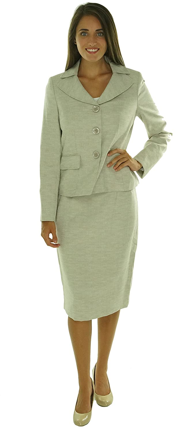 Evan Picone Womens Classic Time 2PC Knee-Length Skirt Suit