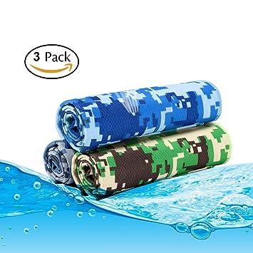 Hielo Toalla Stay Cool – bstcentelha 3 toallas de hielo de refrigeración para todos los deportes