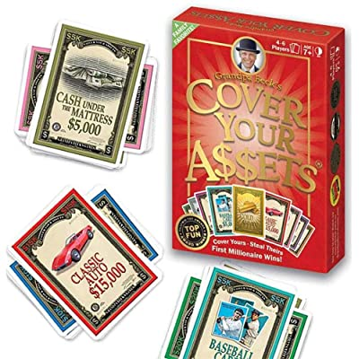 Cover Your Assets Playing Cards Super Game Fun Classic Strategy Games Board Card Toys for Party Family Gathering 2-8 Players Ages 7+: Toys & Games