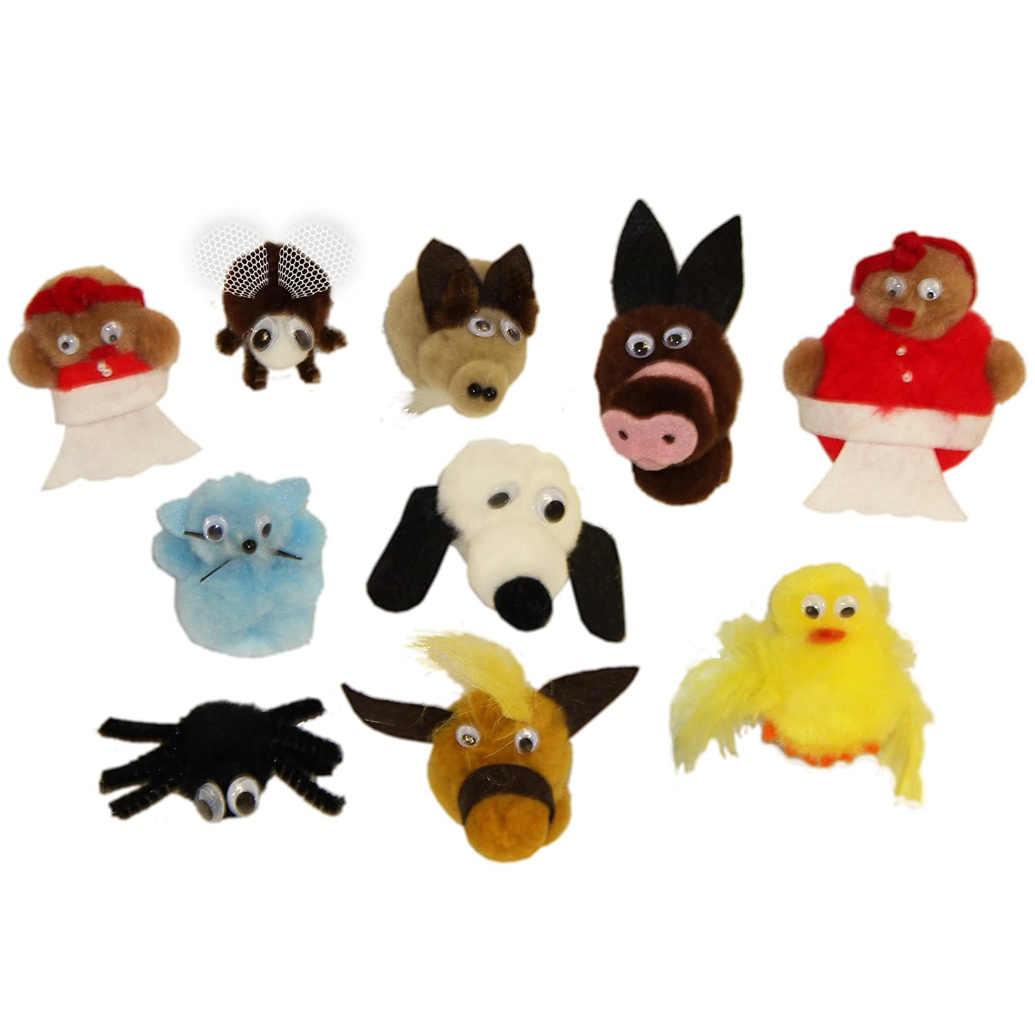 9 Length 5 Wide Pack of 10 1.5 Height Melody House WZ-503 There Was An Old Lady Who Swallowed A Fly Character Monkey Mitt Set without Mitt Grade Kindergarten to 1