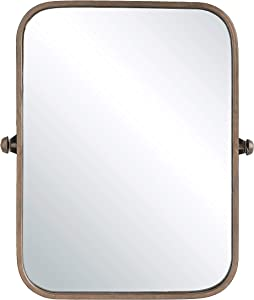 Creative Co-op Metal Framed Pivoting Wall Mirror, Copper
