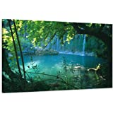 """Visario 4164 Tableau sur toile en lin, motif """"arbres"""", 80 x 60 cm"""