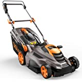 TACKLIFE Lawn Mower, 16'' & 13 Amp Electric Lawn Mower, 5 Adjustable Heights (0.78''- 2.76''), Fast Assembly & Compact…