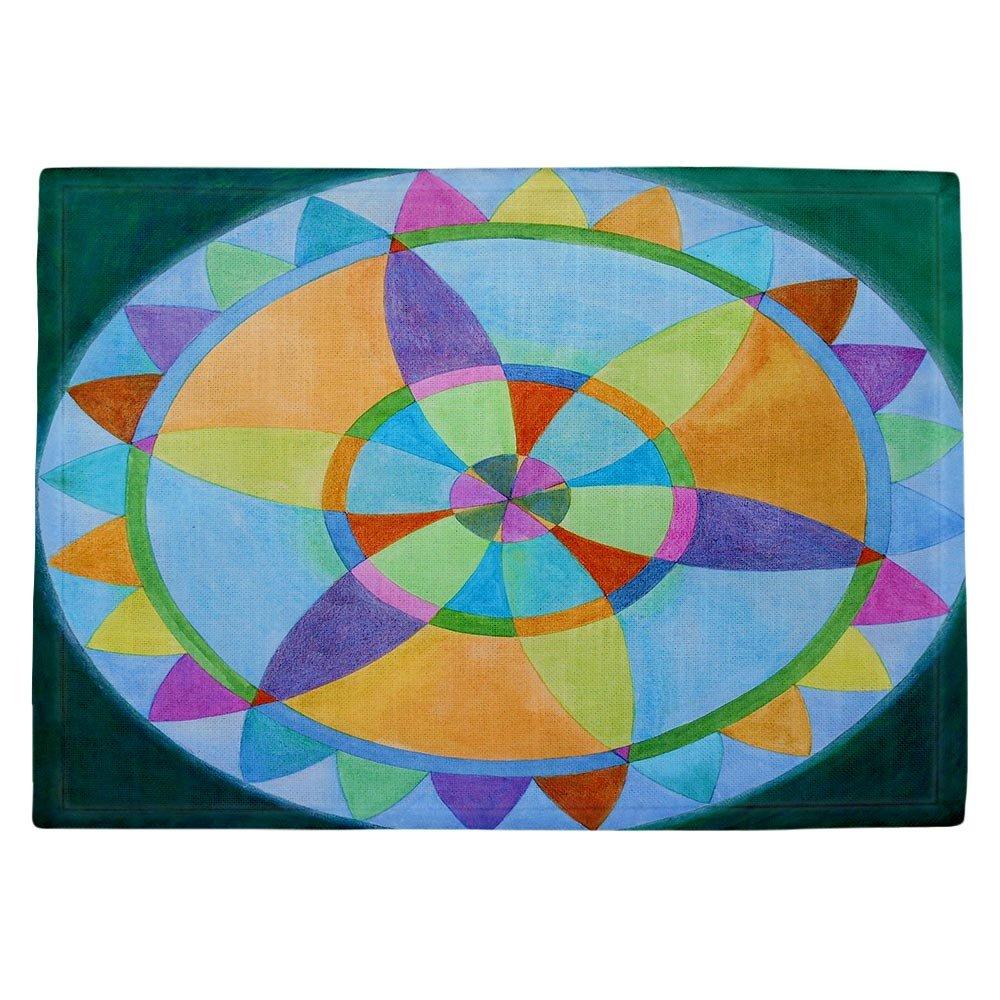 DIANOCHEキッチンPlaceマットby Jennifer Baird – Mandala I A Set of 4 Placemats PM-JenniferBairdMandalaIA2 Set of 4 Placemats  B01EXSJ38O
