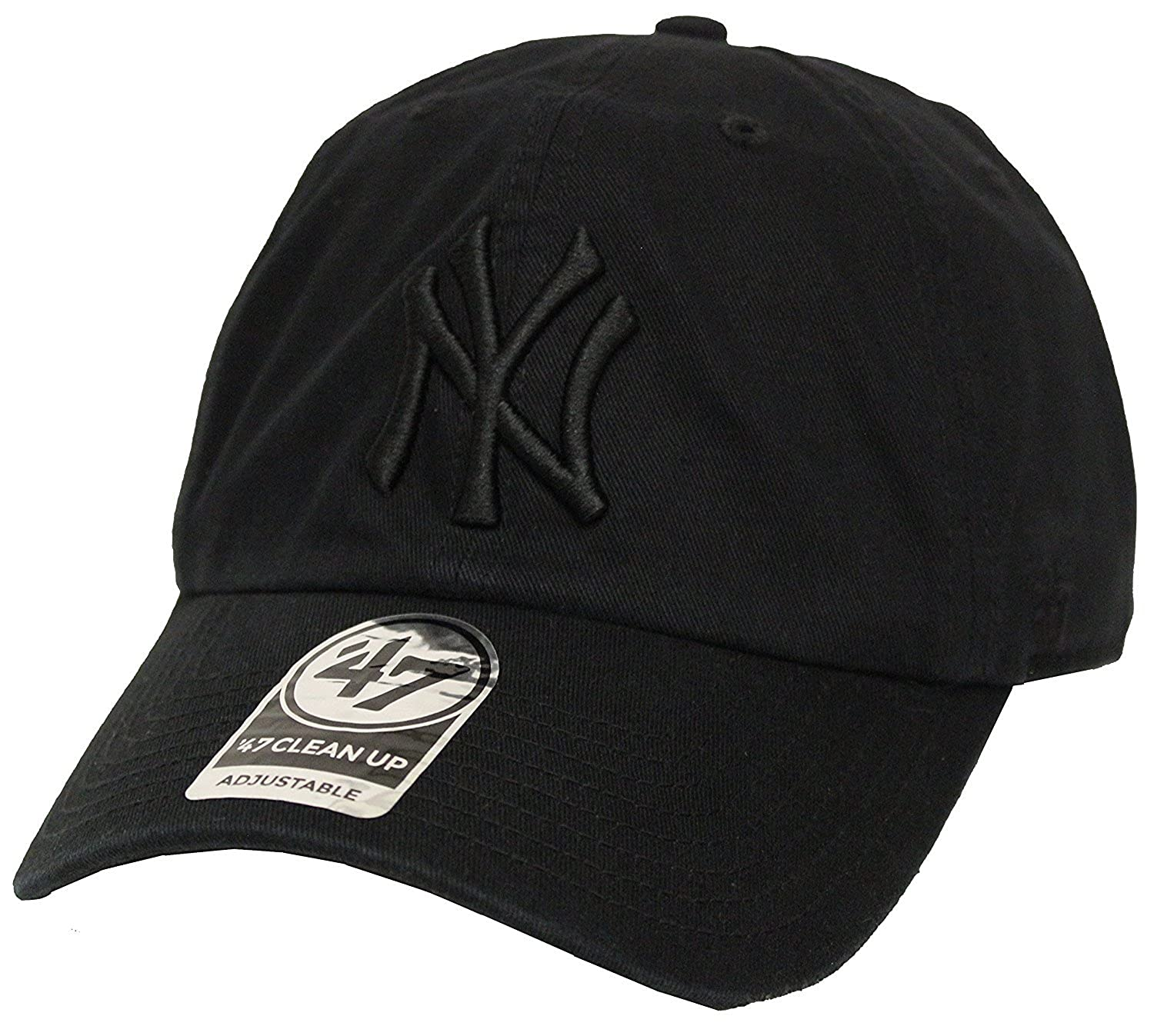 60b5a9c80 The 47 Brand Clean Up New York Yankees Black Strapback at Amazon ...